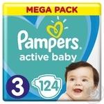Подгузники Pampers Active Baby 3 6-10кг 124шт