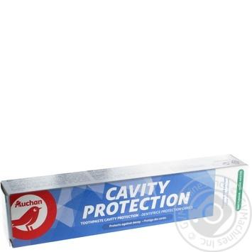 Зубная паста Ашан Защита от кариеса 75мл - купить, цены на Ашан - фото 1