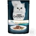 Gourmet Perle Duo for cats in sauce with ocean fish and tuna food 85g