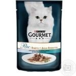 Корм GOURMET Perle Duo С океанической рыбой и тунцом для взрослых кошек 85г