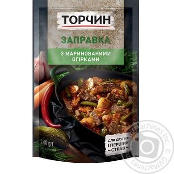 Заправка Торчин с маринованными огурцами для первых и вторых блюд 240г - купить, цены на Novus - фото 3