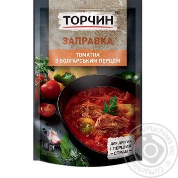 Заправка Торчин томатная с болгарским перцем для первых и вторых блюд 240г - купить, цены на Novus - фото 3