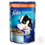 Корм Felix Fantastic С индейкой в желе для взрослых котов 100г