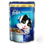 Корм Felix Fantastic С курицей в желе для взрослых котов 100г