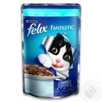 Корм Felix Fantastic С треской в желе для взрослых котов 100г