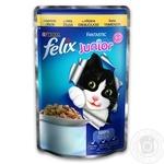 Корм Felix Fantastic Junior С курицей в желе для котят 100г