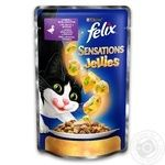 Felix Sensations in jelly with duck and spinach for cats food 100g
