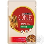 Food Purina one with beef for dogs 100g