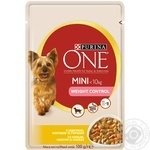 Purina One Mini for dogs with turkey, peas, carrot in sauce food 100g