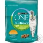 Purina One DualNature for cats with chicken dry food 750g