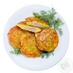 Potato flapjacks with meat