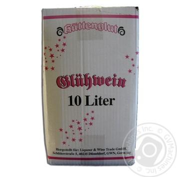 Винный напиток Hüttenglut Глинтвейн красный полусладкий 9% 10л