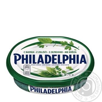 Сыр Филадельфия с зеленью 64% 175г - купить, цены на Восторг - фото 1