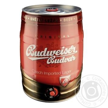 Budweiser Budvar Light Beer Can 5% 5l - buy, prices for MegaMarket - image 1