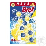 Bref blocks for the toilet Power Active Lemon Freshness 4pcs