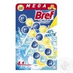 Bref  blocks for the toilet Power Active Lemon and Ocean Freshness 4pcs