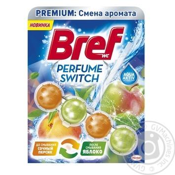 Туалетные блоки для унитаза Bref Изменение аромата Персик-Яблоко 50г - купить, цены на Novus - фото 1