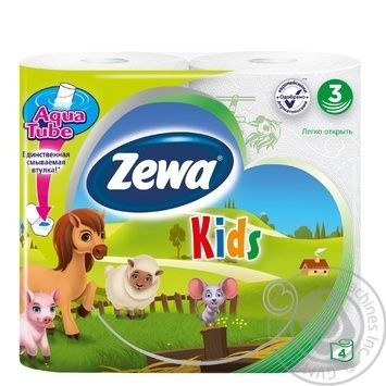 Zewa Kids white 3-ply toilet paper 4pcs