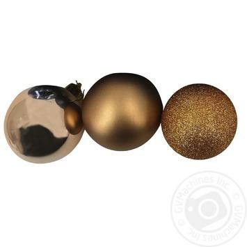Кулька Actuel новорічна бронзова 6см в асортименті