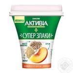 Бифидойогурт Активиа Персик-амарант 3% 230г