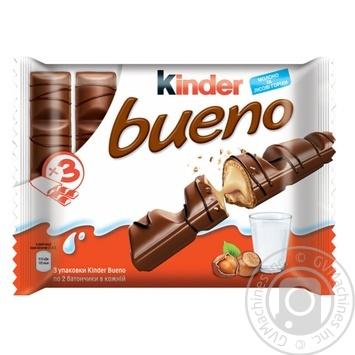 Шоколад Kinder Bueno батончики Т2 3шт