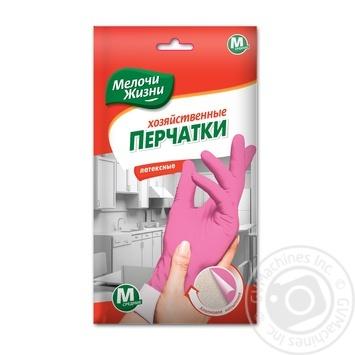 Перчатки Мелочи Жизни хозяйственные латексные размер М - купить, цены на Фуршет - фото 2