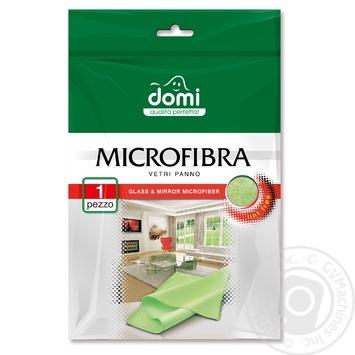 Салфетка Domi из микрофибры для стеклянных поверхностей - купить, цены на Фуршет - фото 1