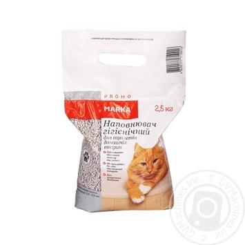 Наповнювач гігієнічний для туалетів домашніх тварин Marka Promo 2,5кг - купити, ціни на Novus - фото 1