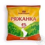 Fermented baked milk Galychyna chilled 4% 400g