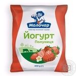 Йогурт Молочар Клубника питьевой 1% 400г