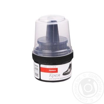 Крем для взуття з гладкої шкіри чорний Marka Promo60мл - купить, цены на Novus - фото 1