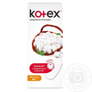 Прокладки ежедневные Kotex Normal 20шт - купить, цены на Восторг - фото 1