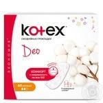 Прокладки ежедневны еKotex Deo Normal 60шт - купить, цены на Novus - фото 1