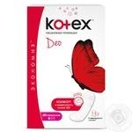 Прокладки ежедневные Kotex Ультра тонкие Део 60шт - купить, цены на Ашан - фото 1