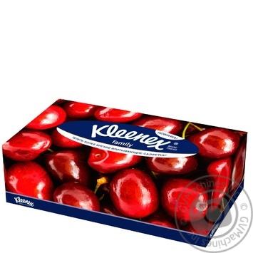 Салфетки Kleenex Family Boxes в коробке - купить, цены на Ашан - фото 1