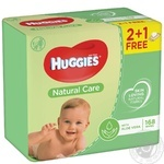 Huggies Natural Care Baby Wet Wipes 2+1 3*56pcs