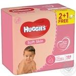 Салфетка влажная Huggies Soft Skin 56шт/уп - купить, цены на Novus - фото 1