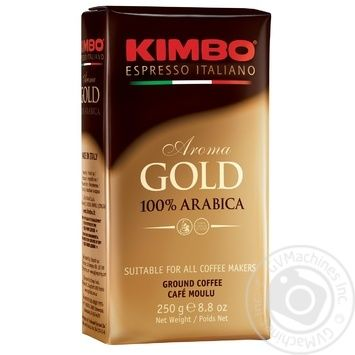 Kimbo Aroma Gold 100% Arabica ground coffee 250g - buy, prices for MegaMarket - image 1