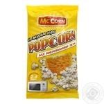 Попкорн Mc'Corn со вкусом сыра для микроволновки 90г - купить, цены на Восторг - фото 1