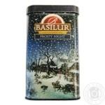Tea Basilur black 85g can