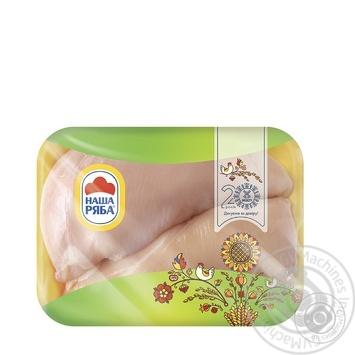 Филе Наша Ряба куриное охлажденное фасованное (упаковка ~500г) - купить, цены на Novus - фото 1