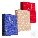 Пакет подарунковий крафт №5 350*400*120