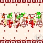 New Year's Napkins Two-layer 33*33cm 15pcs