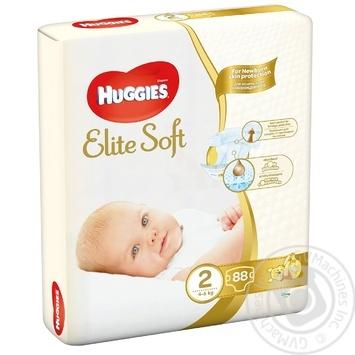 Huggies Elite Soft Newborn diapers 2 4-6kg 80pcs - buy, prices for Auchan - photo 1