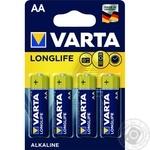 Батарейка VARTA Longlife Alkaline AA BLI 4шт