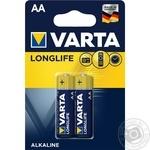 Батарейка VARTA Longlife Alkaline AA BLI 2шт