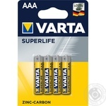 Батарейка VARTA Superlife AAА BLI4 Zinc-carbon 4шт