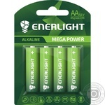 Enerlight Mega Power Alkaline AA BLI 4 Battery