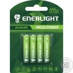 Батарейка Enerlight Mega Power Alkaline AAА BLI 4шт