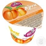 Cottage cheese cream Zarechye Peach 5% 150g plastic cup Ukraine